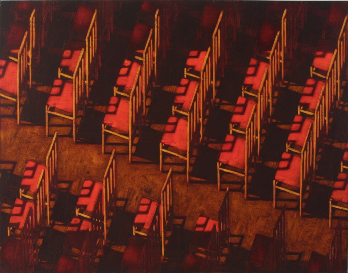 Assembly hall 2002 oil canvas 114x162