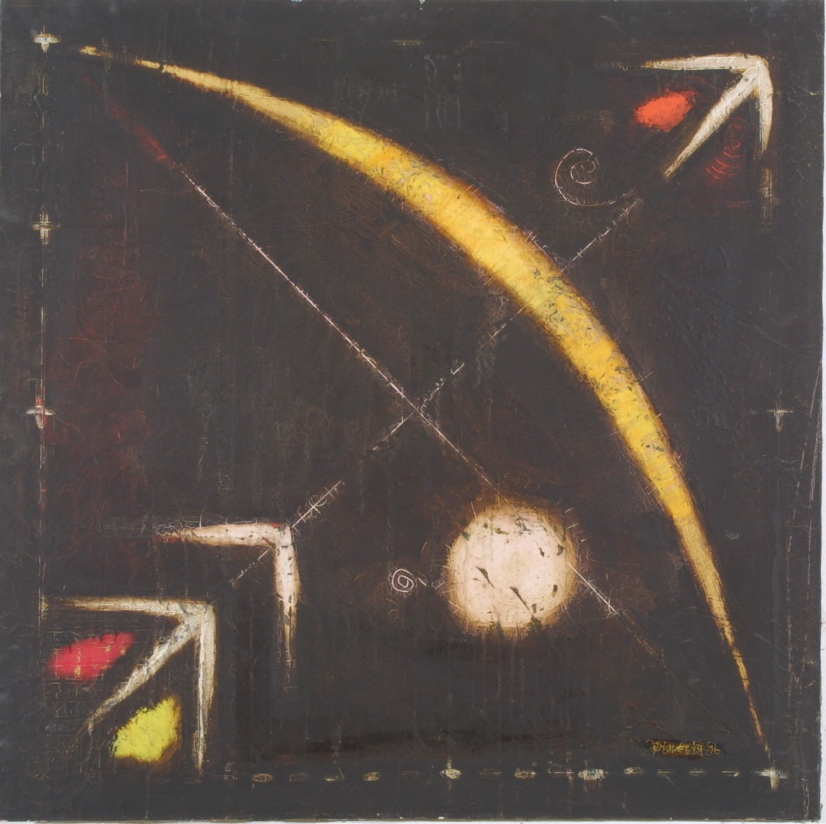 Atribute of Cupidone, 1997, oil, canvas, 90x90