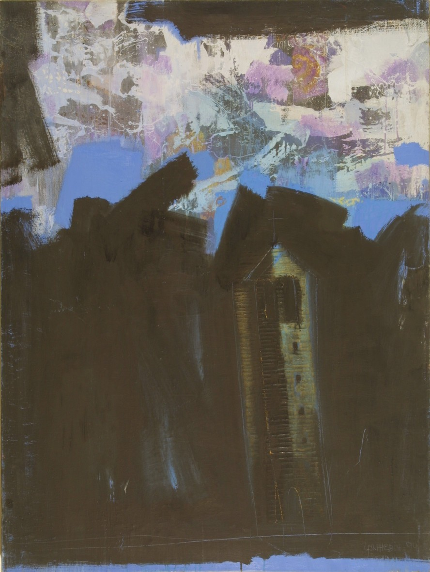 Bell Tower, 1993, oil, canvas, 130x97