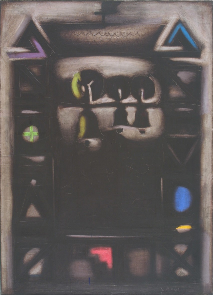 Bell Tower, 1997, oil, canvas, 100x73