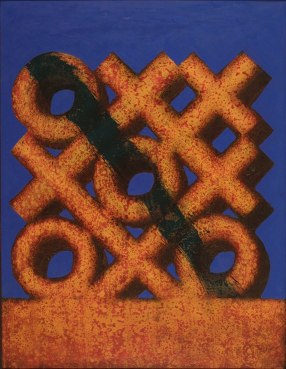 0 and cross 2000 oil canvas 116x89