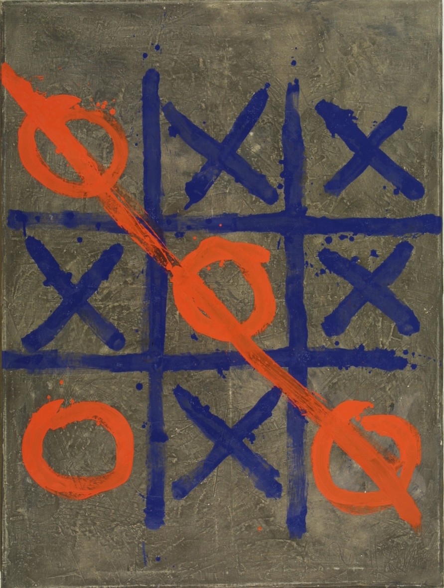 0 and cross 2003 oil canvas 130x97