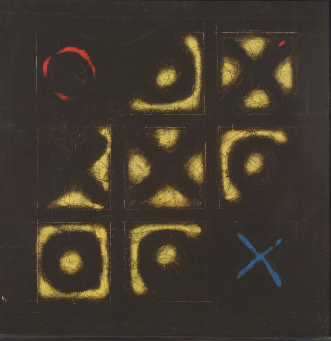 0 and Cross, 1997, oil, canvas, 90x90