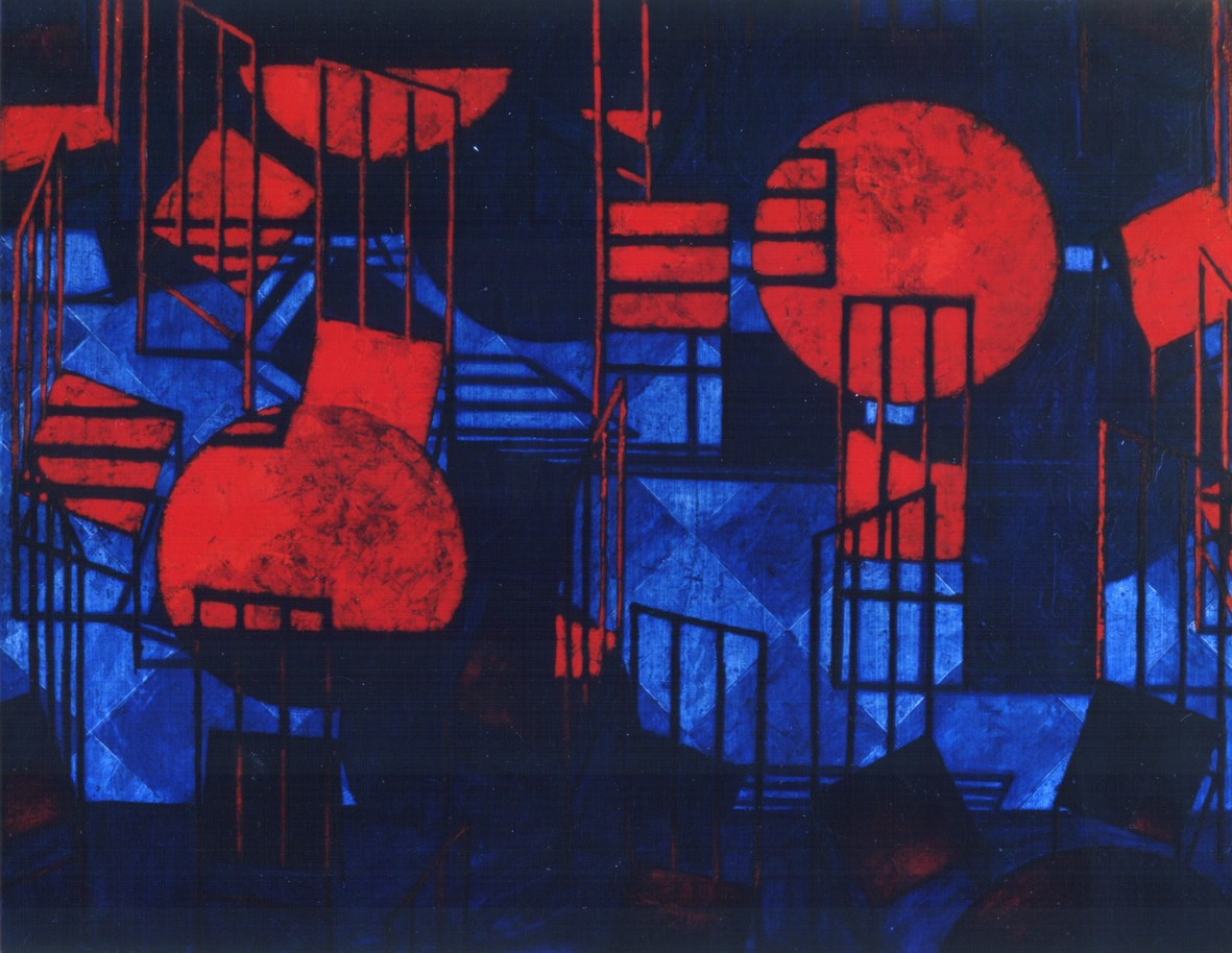 Red cafe 2002 oil canvas 114x160