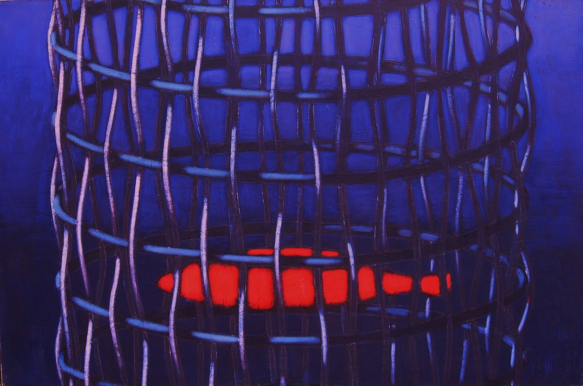Red fish 2000 oil canvas 97x146