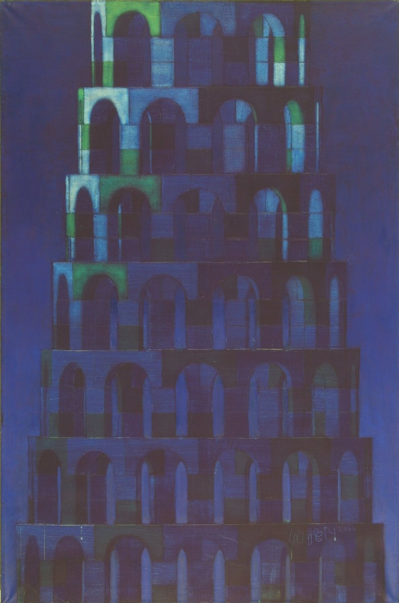 Tower, 1999, oil, canvas, 146x97