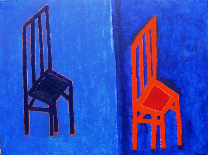 Two chairs 2006 oil canvas 97x130