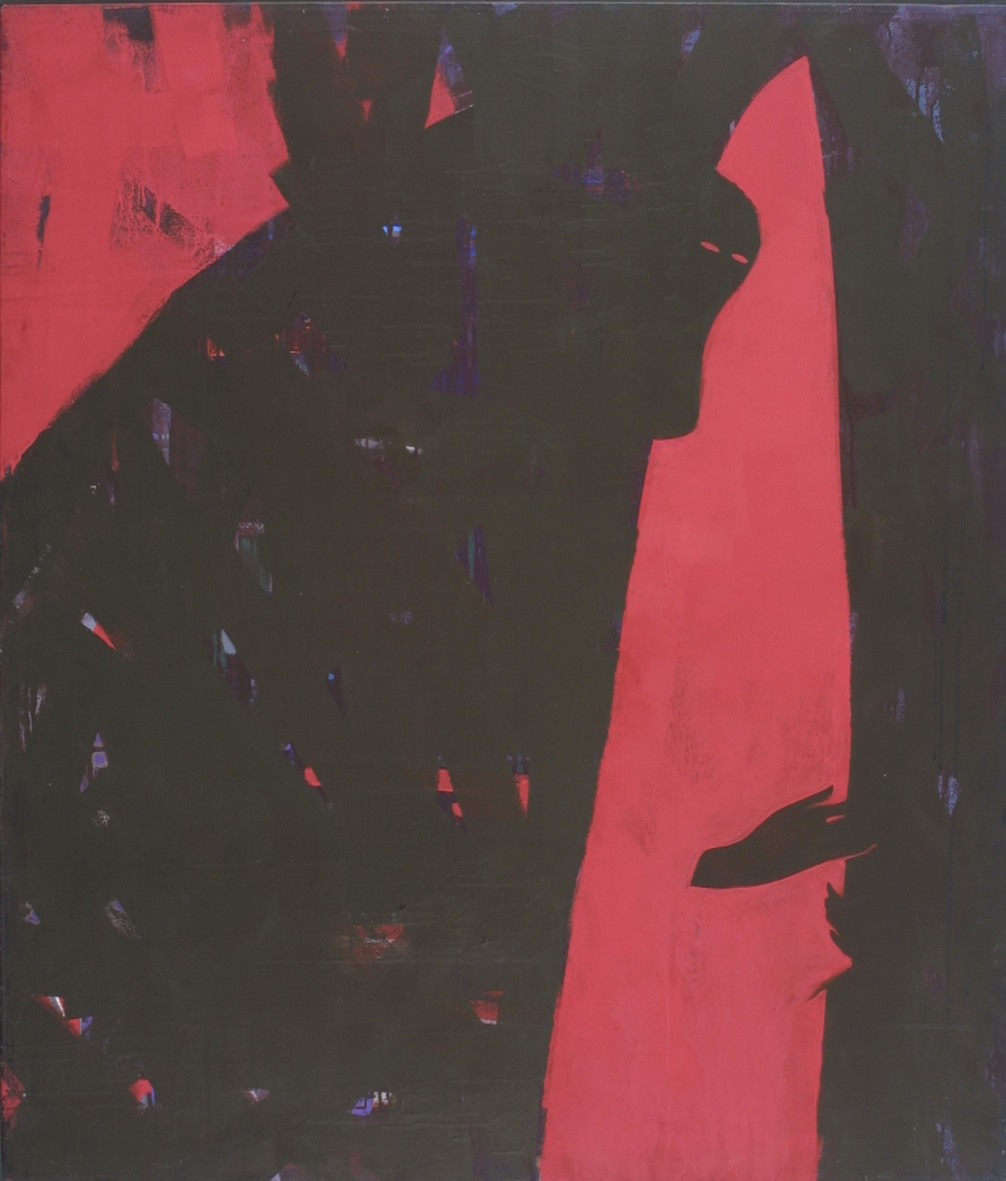 Woman with Candle, 1992, tempera, canvas, 140x120