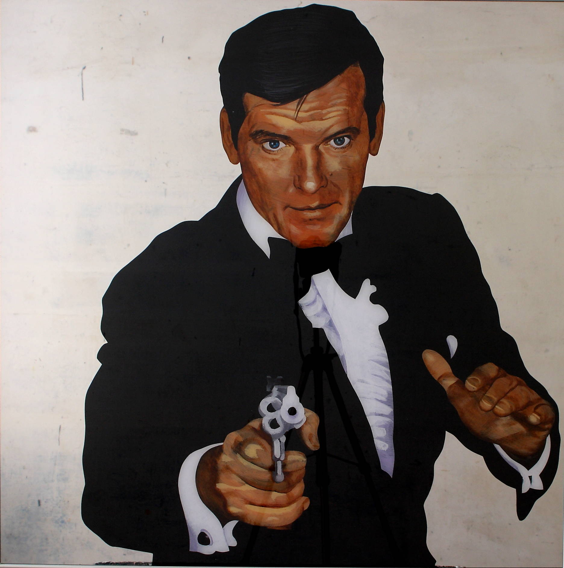 Roger Moore 2013 acrylic org.glass 100x100