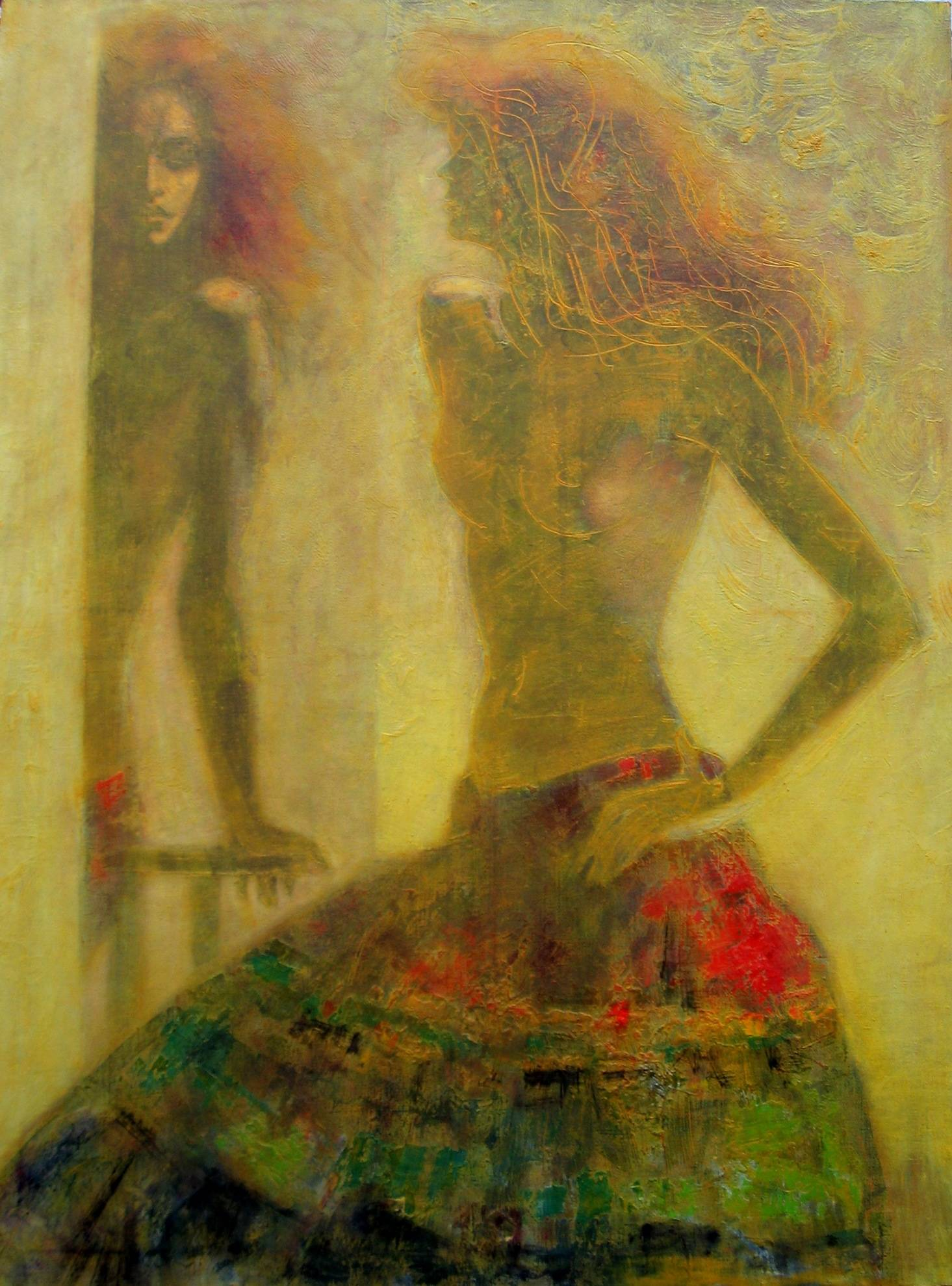 At looking glass 2006 oil canvas 130x97