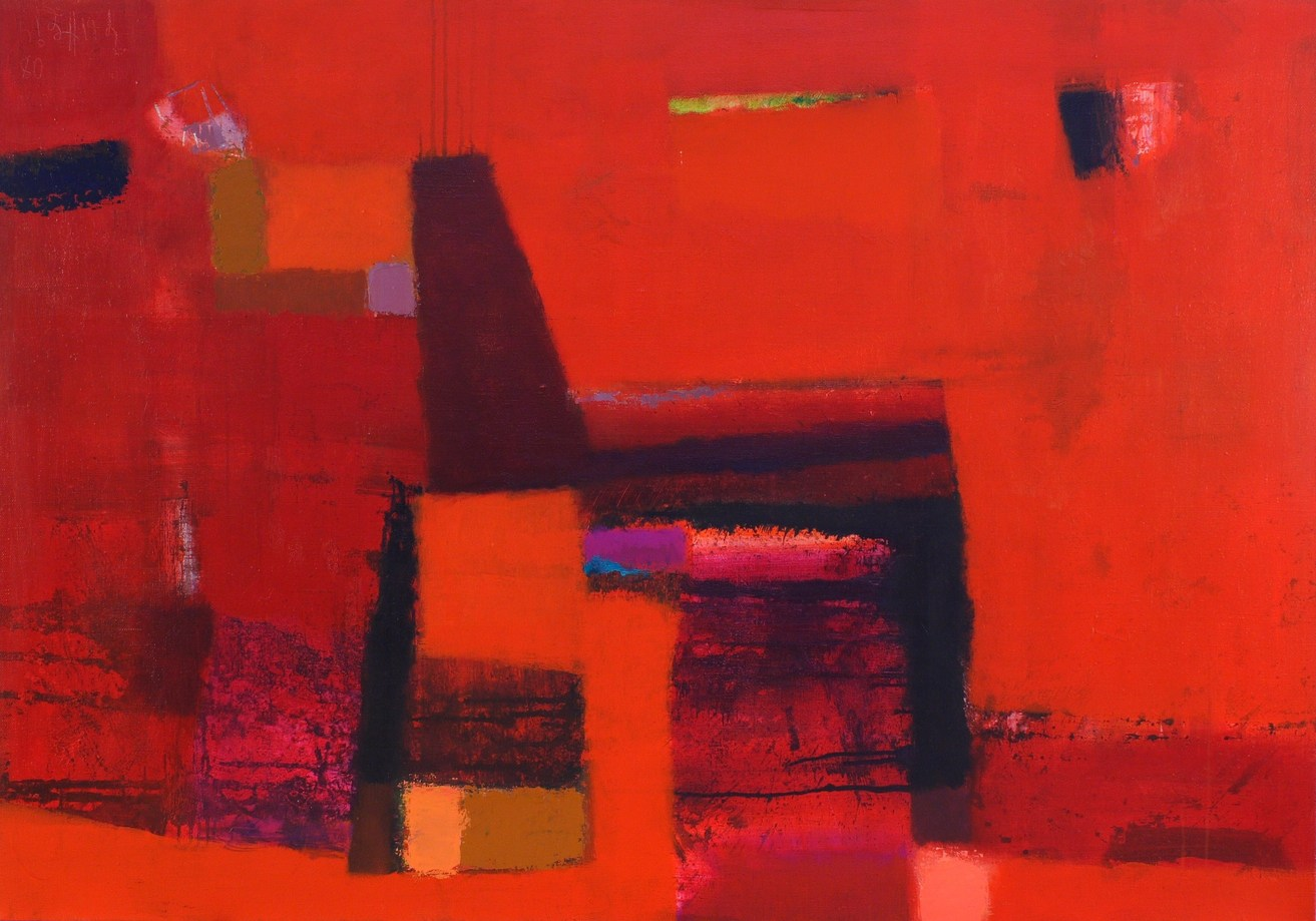 Red abstraction 2008 acrylic canvas 114x162